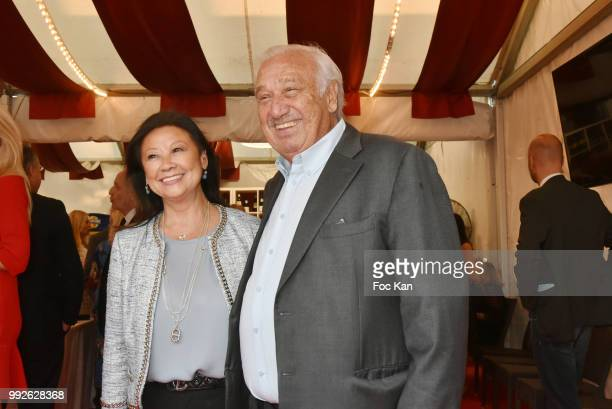 Paris 8th district mayor Jeanne D'Hauteserre and Marcel Campion attends 'La Femme Dans Le Siecle' Dinner on July 5 2018 in Paris France