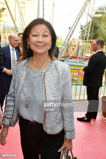 Paris 8th district mayor Jeanne D'Hauteserre Attends 'La Femme Dans Le Siecle' Dinner on July 5 2018 in Paris France
