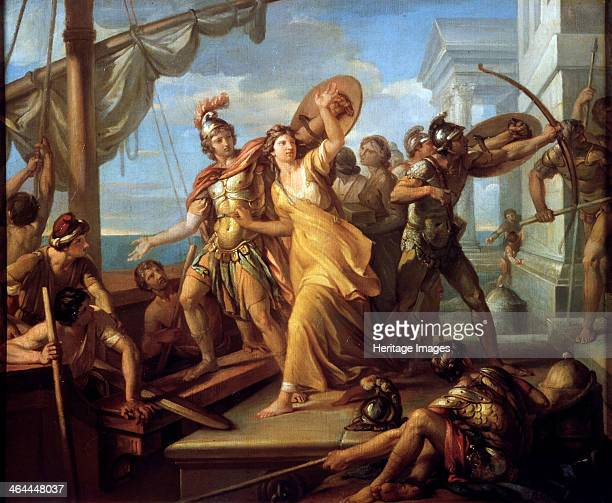 'Paris Abducting Helen', c1782-c1784. The abduction of Helen, wife of king Menelaus of Sparta, by the Trojan prince Paris, led to the Trojan Wars....