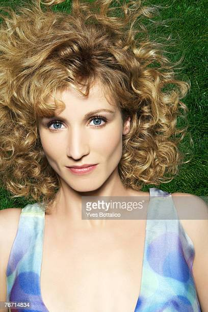 actress Alexandra Lamy poses at a portrait session for Marie France in Paris on october 2006