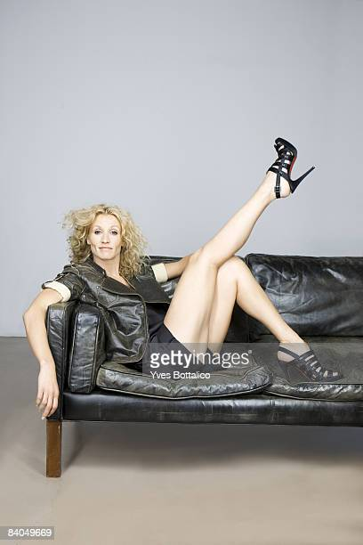 Actress Alexandra Lamy poses at a portrait session in Paris on November 20 2008