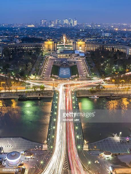 Paris Aerial Night View