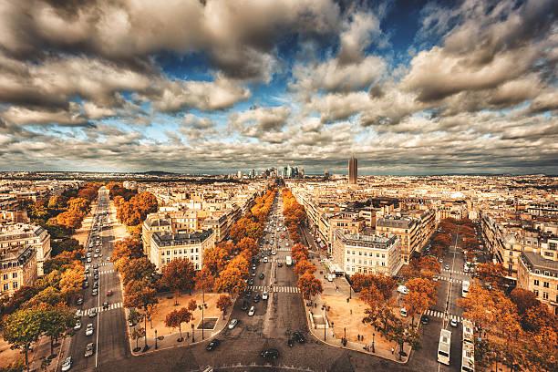 Paris Aerial View Of La Defense Wall Art
