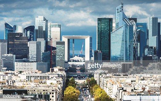 Vue aérienne de Paris La Défense