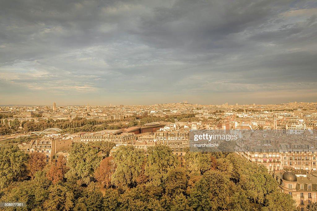 Paris, Luftaufnahme : Stock-Foto