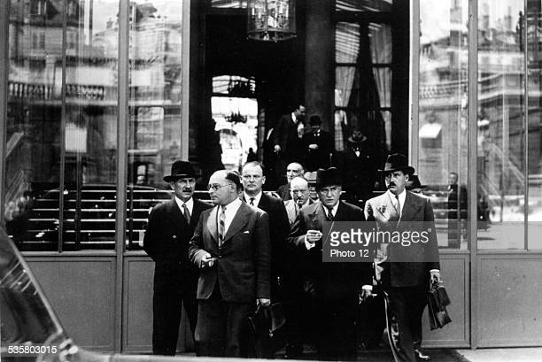 Paris after the Cabinet meeting which has declared general mobilization in France September 1 1939