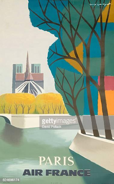 Paris Air France Poster by Guy Georget