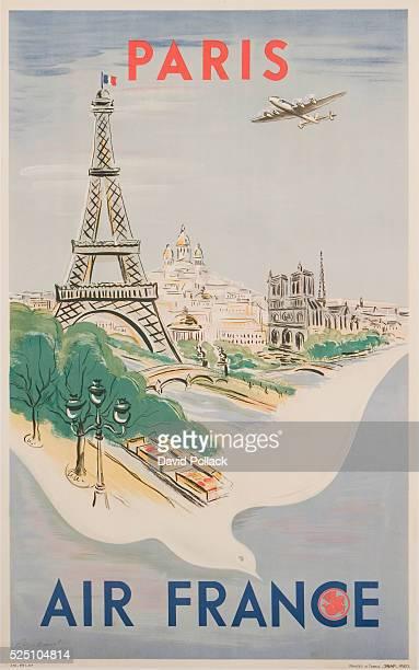 Paris Air France Poster by Regis Mauset