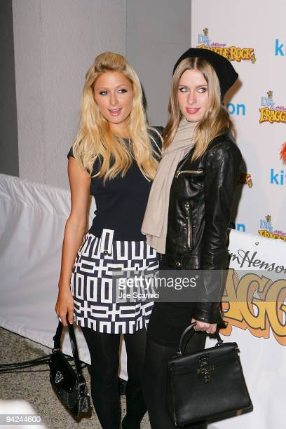 Paris and Nicky Hilton arrive at the Jim Henson Company's Fraggle Rock Holiday Toy Drive Benefit at Kitson on Roberston on December 9 2009 in Beverly...