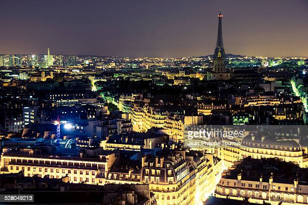 Paris and the Eiffel Tower by night