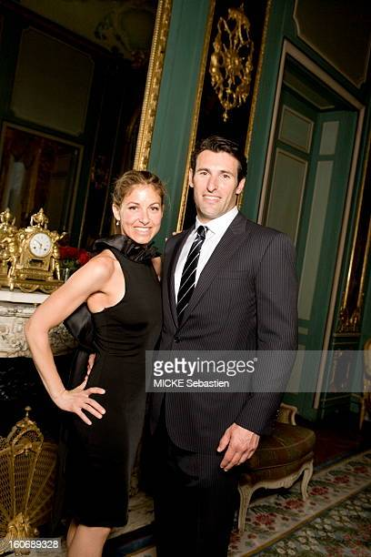 Paris April 15 2010 after being raised to the rank of Chevalier of the Legion of Honour by President Sarkozy designer Ralph Lauren who inaugurated...