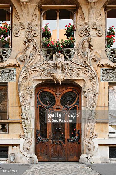 paris architecture - art nouveau stock pictures, royalty-free photos & images