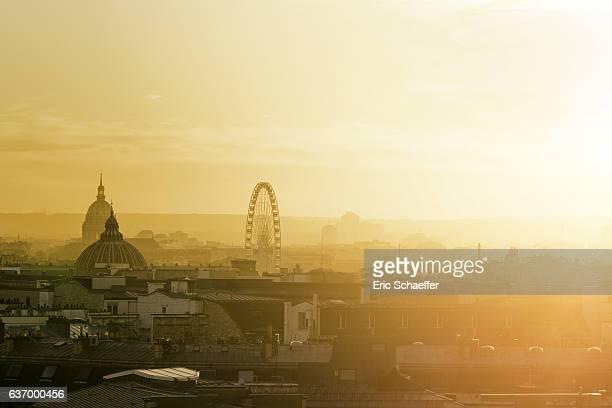 Paris at golden hour
