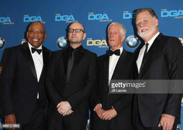 Paris Barclay Steven Soderbergh Michael Apted and Taylor Hackford attend the 66th Annual Directors Guild Of America Awards Press Room held at the...