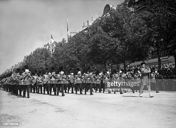 Paris Bastille Day Champs Elysees View Of The Military Parade On July 14Th 1939