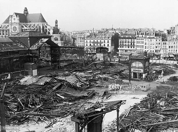 Paris, Beaubourg District, The Halles, Demolition Of Pavillons Baltard