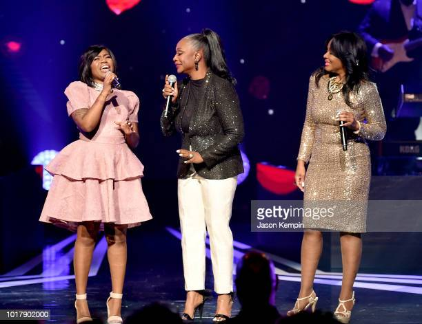 Paris Bennett Regina Belle and Angela Winbush perform onstage during the 2018 Black Music Honors at Tennessee Performing Arts Center on August 16...