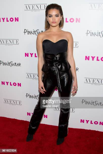 Paris Berelc arrives for NYLON Hosts Annual Young Hollywood Party at Avenue on May 22 2018 in Los Angeles California