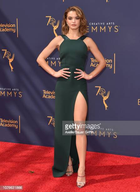 Paris Berelc attends the 2018 Creative Arts Emmy Awards at Microsoft Theater on September 8 2018 in Los Angeles California