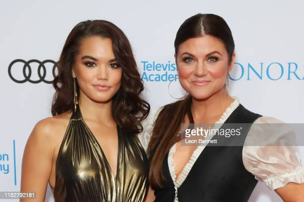 Paris Berele and Tiffani Thiessen attend The 12th Annual Television Academy Honors at the Beverly Wilshire Four Seasons Hotel on May 30 2019 in...