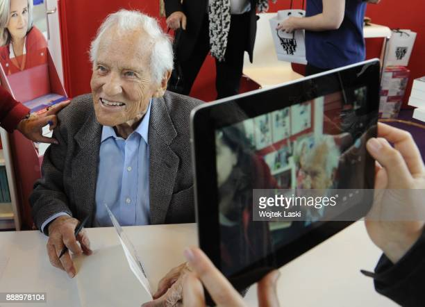 Paris Book Fair 24th March 2014 Jean D'Ormesson a French novelist and journalist a member of the Academie francaise and former director of the French...