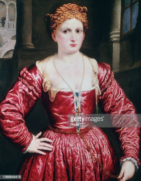 Paris Bordon, Italian school. Portrait of a Young Woman c.1545. Oil on canvas . London, National Gallery.