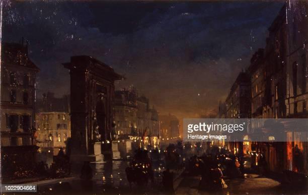 Paris Boulevard and the Porte SaintDenis 1855 Private Collection
