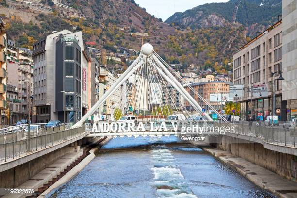 paris bridge in andorra la vella - andorra la vella stock pictures, royalty-free photos & images