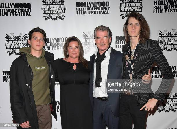 Paris Brosnan director of HRIFF's Best Documentary Film Poisoning Paradise Keely Shaye Brosnan Executive Producer Pierce Brosnan and Dylan Brosnan...