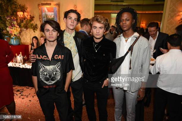 Paris Brosnan Dylan Jagger Lee and Myles O'Neal attend Town Country 2018 New Modern Swans Celebration with Michael Kors Catherine ZetaJones and Carys...