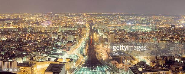 Panorama de Paris par nuit