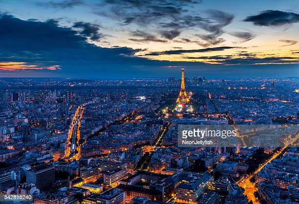 paris by night - paris stockfoto's en -beelden
