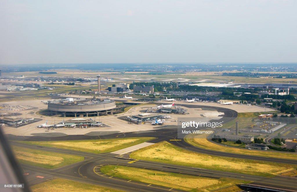 Paris Charles de Gaulle airport. : Stock Photo