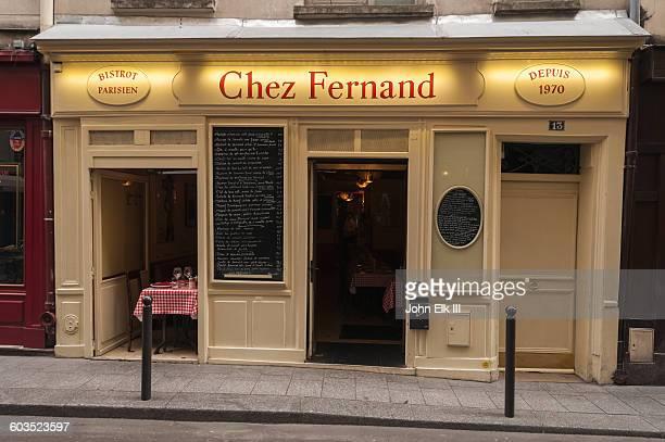 Paris, Chez Fernand restaurant facade