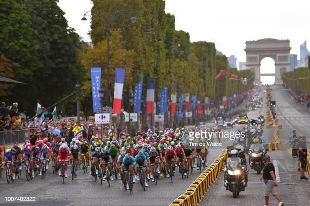 Paris City / Arc De Triomphe / Peloton / Landscape / during the 105th Tour de France 2018, Stage 21 a 116km stage from Houilles to Paris...