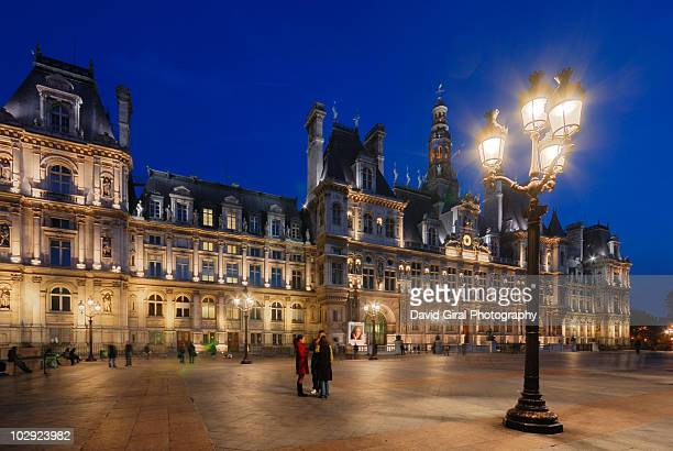 paris city hall - town hall stock pictures, royalty-free photos & images