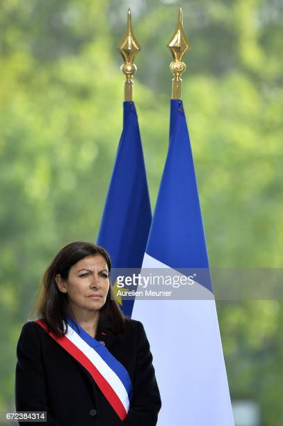 Paris City Mayor Anne Hidalgo attends the commemoration of the 102nd anniversary of The Armenian Genocide on April 24 2017 in Paris France 15 million...