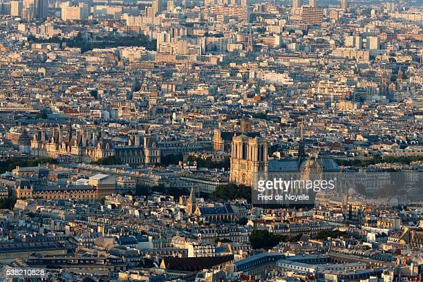 Paris city. Notre-Dame de Paris cathedral.