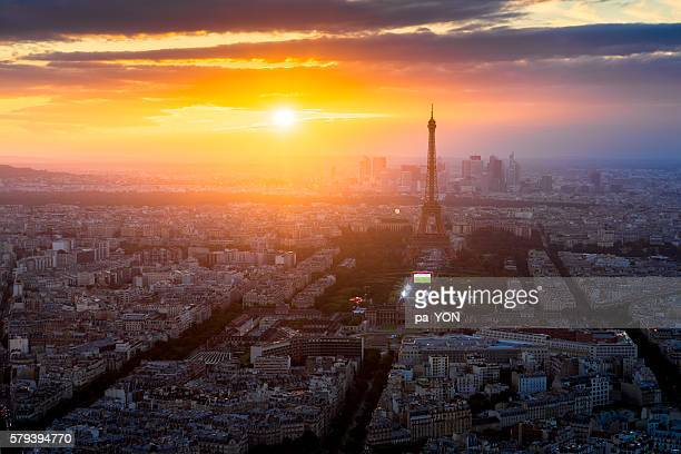 paris city - twilight stock pictures, royalty-free photos & images