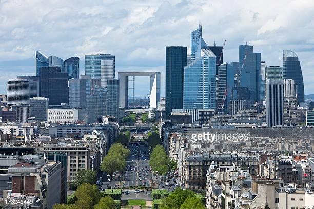 Vue sur La ville de Paris et de La défense du quartier des finances