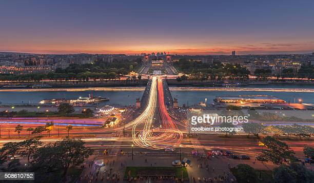 Paris cityscape at night