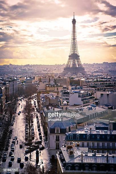 Paysage urbain de Paris, la Tour Eiffel
