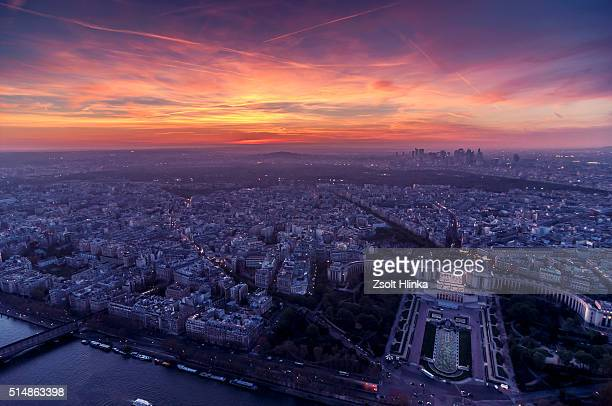 paris cityscape - paris night stock pictures, royalty-free photos & images