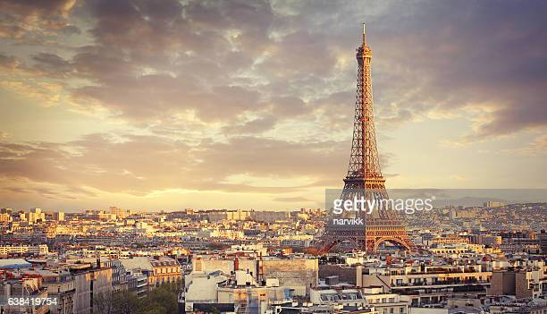 paris cityscape - paris stockfoto's en -beelden