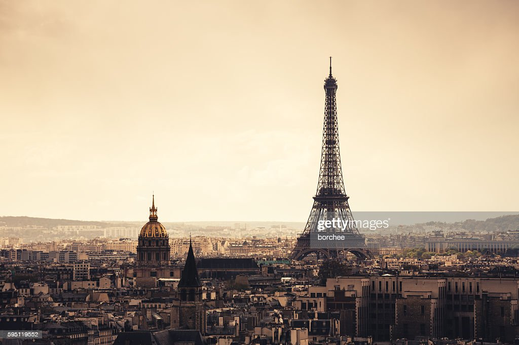 Paris Cityscape With Eiffel Tower : Stock Photo