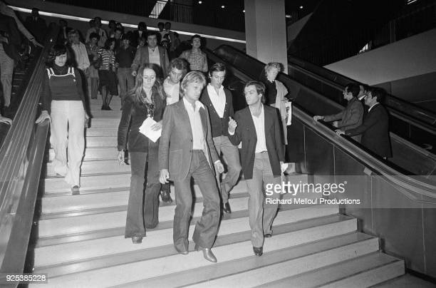 Paris Claude François coming back from London after the bombing in the Hilton hotel in London 6th September 1975