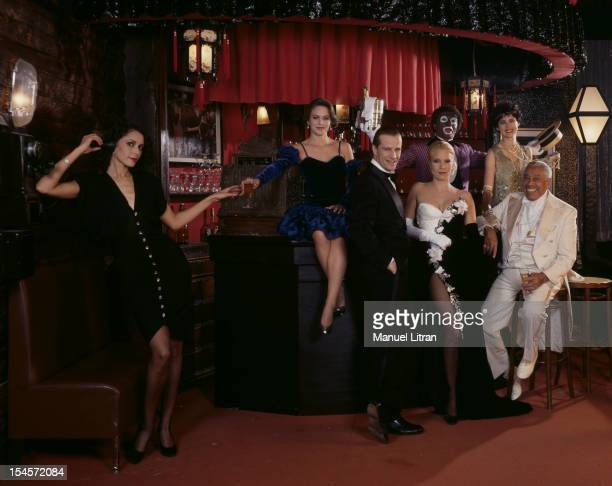 Paris December 5 the bar's 'Cotton Club' Yves MOUROUSI disguised in grime and AL Johnson receives Sylvie Vartan Christopher Lambert Cab CALLOWAY and...