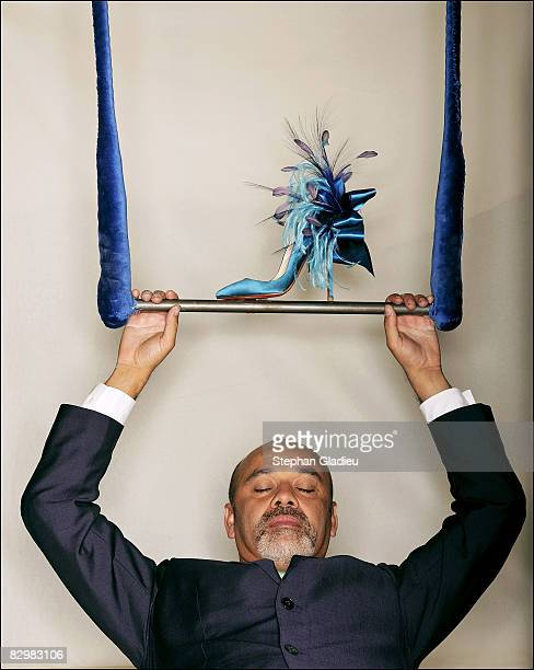 Designer Christian Louboutin poses at a portrait session in Paris on July 1 2008