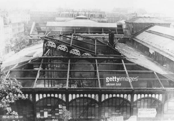Paris dismantling of Les Halles Paris's central fresh food market