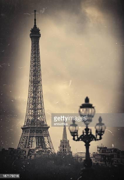 Paris. Eiffel Tower. Retro look